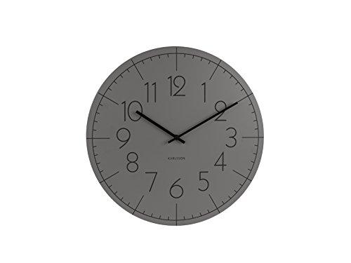 karlsson ka5592gy wanduhr blade numbers metall 5 5 x 40 x 40 cm grau 1 redidoplanet. Black Bedroom Furniture Sets. Home Design Ideas
