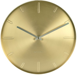 KARLSSON KA5594GD Wanduhr Belt Metall 3.5 x 40 x 40 cm, Gold - 1