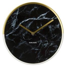 Karlsson KA5606BK Wanduhr Marble Delight Gold, schwarz, 5 x 30 x 30 cm - 1
