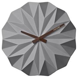 Karlsson Keramik Origami grau Wanduhr???ka5531gy - 1