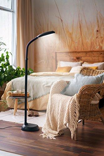 kenley stehlampe leselampe 12w led dimmbar modern deckenfluter standleuchte standlampe. Black Bedroom Furniture Sets. Home Design Ideas