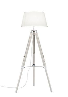 Khl LED Stehlampe Standleuchte Studio Stoffschirm Dreifuß weiß 143cm 9W E27 KH409901 - 1