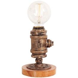 KMYX American Vintage Tischlampe mit Dimmer Schalter Dekorative Schreibtisch Lichter Lampe Loft Edison Industrie Persönlichkeit Licht Lampe Cafe Kreative Leuchte - 1