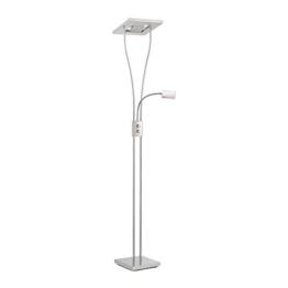 LED-Deckenfluter dimmbar mit flexibler Leselampe, zweigeteilter Fluterkopf Stehleuchte Wohnzimmerlampe Standleuchte LED-Fluter, Leseleuchte Standleuchte 1850 Lumen warmweiß quadratisch - 1