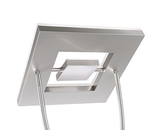led deckenfluter dimmbar mit flexibler leselampe zweigeteilter fluterkopf stehleuchte. Black Bedroom Furniture Sets. Home Design Ideas