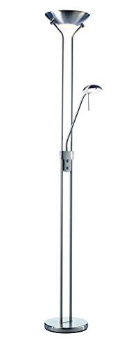 LED HF8702 Stehlampe mit Leselampe dimmbar 2000lm Lichtleistung mit flexiblem Leselichtarm 22,5W Stromverbrauch - 1