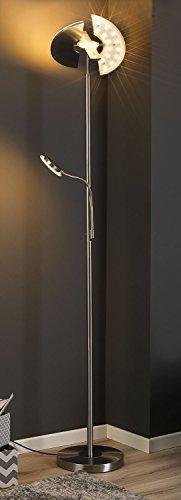 LED-Stehlampe Stehleuchte Standleuchte Deckenfluter OBASI | Silberfarben | Metall | Glas | Dimmbar - 1