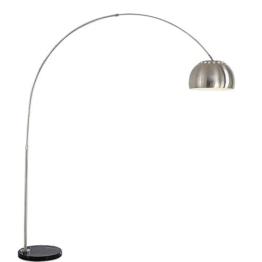 LED verstellbare Stehlampe, moderne minimalistische gebogene Edelstahl Stehlampe Nordic Wohnzimmer Schlafzimmer Studie Angeln Stehlampe rotierenden Marmor Leselicht ( Size : 205*35*22cm ) - 1