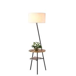 LEGELY Kreative japanischen Stil Massivholz Stehleuchte, die nordischen Wohnzimmer Sofa Tischlampe Schlafzimmer Nachttischlampe, Schreibtisch Trigeminus Stehleuchte, Holzfarbe - 1