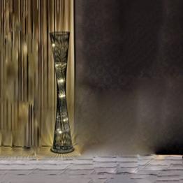 LEGELY Vertikale kreative mode einfache persönlichkeit stehleuchte, schlafzimmer lampe schlafzimmer kleine hübsche taille beleuchtung led-lampe, schwarz und schwarz silber optional ( Farbe : Schwarz ) - 1