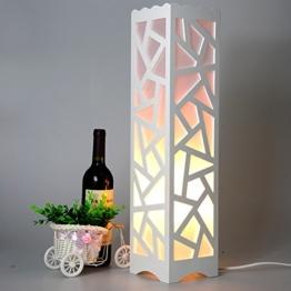LightSei- Moderne Minimalist Kreative Wohnzimmer Schlafzimmer Arbeitszimmer Raum Weiß Led Ausgehöhlte Skulptur Stehlampe 14 * `14 * 60cm - 1
