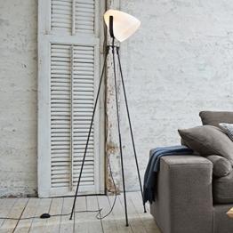 LOBERON Stehlampe Laetitia, Eisen, Höhe ca. 170 cm, grau/weiß, Energieeffizienzklassen A++ bis E - 1