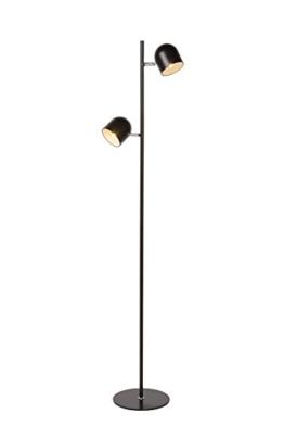 Lucide Skanska -LED -Stehlampe -Leddim.  -2 x 5 W, 2700 K, Metall, Integriert, 5 W, Black, 32 x 32 x 141 cm - 1