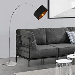 [lux.pro]® Stehleuchte - Bogenlampe - 230cm - design stylisch schwarz metall - 1
