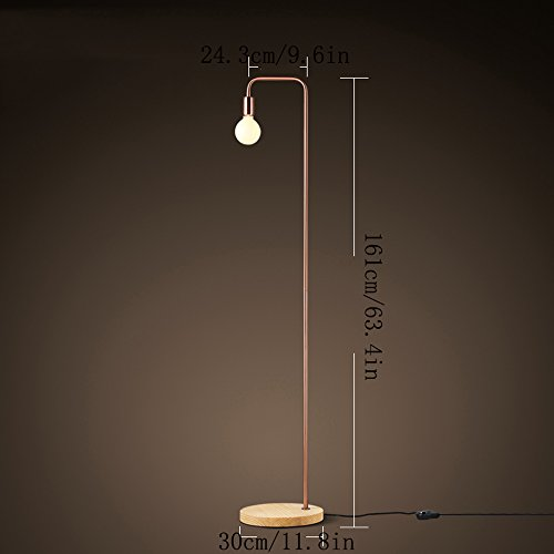 minimalistische led holz stehlampe retro industrie b ro schlafzimmer wohnzimmer stehlampe. Black Bedroom Furniture Sets. Home Design Ideas