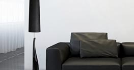 MiniSun – Schöne Stehlampe aus Keramik mit einem modernen, glänzigen schwarzen und silberfarbigen Finish im Retrostil – Bodenleuchte - 2