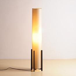 MMM- Stehlampe Schlafzimmer Wohnzimmer Studie einfache vertikale Stehlampe Tuch Lampe Schatten Eisen Lichtmast E27 Fußschalter Stehlampe ( Farbe : Beige ) - 1