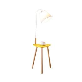 MMM- Stehleuchte Wohnzimmer einfache und moderne Couchtisch Lampe Schlafzimmer Massivholz vertikale Holz Material Stoff Schatten Stehlampe (Größe: 40 * 140 cm) ( Farbe : Gelb ) - 1
