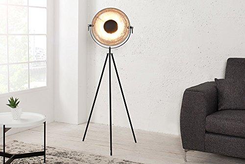 moderne design stehlampe studio schwarz blattsilber optik 140cm stehleuchte lampe 2 redidoplanet. Black Bedroom Furniture Sets. Home Design Ideas