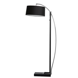 Moderne elegante Stehlampe schwarze Metall und Stoffschirm Farbe 200cm hoch 3 - flammig für Schlafzimmer Wohnzimmer oder Lounge exkl.3*40W E27 - 1