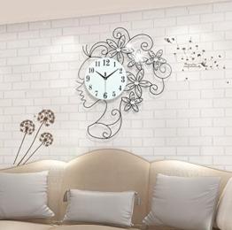 Modische Dekorative Watch Metall Diamond Leise Wanduhr Für Das Schlafzimmer Wohnzimmer, 20 Zoll, Schwarz - 1