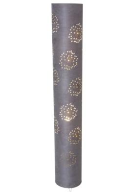 Naeve Leuchten Stoffstehleuchte / Höhe: 120 cm, ø 18 cm, grau 2016416 - 1