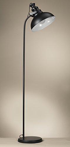 Onli–Stehleuchte/Stehlampe ISTANBUL aus Metall lackiert schwarz matt Stil Vintage, Urban, Industrie. Lampenschirm kuppelförmig. Möbel Zone Tag, Studio, Camera 1x E27. Design made in Italy - 1