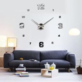 OrrOrr Moderne Wanduhr Design Wandtattoo Dekoration Uhren Spiegel Geschenk MAX XXL #7 - 1