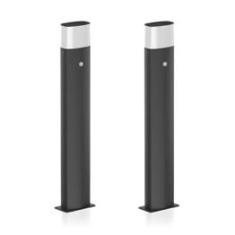 parlat LED Gartenleuchte Vela mit Bewegungssensor, Outdoor, 90cm, schwarz, warm-weiß, 2 Stk. - 1