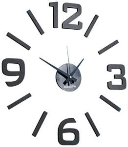 PEARL Uhr zum Aufkleben: 1-Meter XXL-Design-Wanduhr zum Aufkleben (Wanduhren zum Selbstgestalten) - 1
