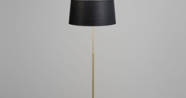 QAZQA Klassisch / Antik Stehleuchte / Stehlampe / Standleuchte / Lampe / Leuchte Parte Matt Gold / Messing mit Lampenschirm 45 cm schwarz Höhenverstellbar / Innenbeleuchtung / Wohnzimmer / Schlafzimme - 3