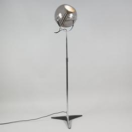 QAZQA Retro Stehleuchte / Stehlampe / Standleuchte / Lampe / Leuchte Strike schwarz / Innenbeleuchtung / Wohnzimmer / Schlafzimmer / Küche Metall Länglich LED geeignet E27 Max. 1 x 60 Watt - 1