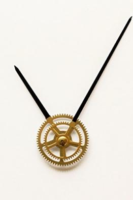 Quarz Uhrwerk Schleichendes Flüsterleises lautlos kein Ticken Uhrzeigerset Zeiger Reparatur 55 (gewindelänge: 21 mm, gold-schwarz) - 1