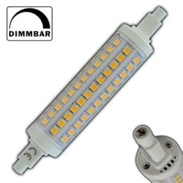 R7s LED Strahler 10 rund Watt dimmbar warmweiß 118mm Leuchtmittel Lampe Halogen j118 Fluter Brenner Scheinwerfer Flutlicht - 1