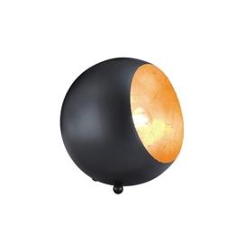 Reality Leuchten R50101032 Billy A++ to E, Tischleuchte, Metall, E14, schwarz matt / goldfarbig, 14 x 15 x 15 cm - 1