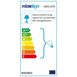 Relaxdays Stehlampe Dreibein, Scheinwerfer Stehleuchte, 1-flammig, Tripod Lampe, HBT: ca. 130 x 53 x 53 cm, weiß - 1