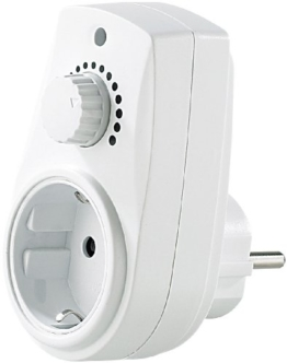 revolt Dimmbare Steckdose: Dimmer-Steckdose für Tisch- und Stehlampen mit 230V (Zwischenstecker mit Dimmer) - 1