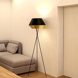 s.LUCE LED Stehleuchte SkaDa Ø 50cm in Gold, Schwarz Wohnzimmerleuchte Stehlampe Dreinbein-Stehleuchte Standleuchte - 1
