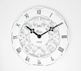 Schabby Vintage-Schrank, Chic, im französischen Stil, Wanduhr Antik Creme-perfekt für Küchen im Landhausstil Uhr - 1