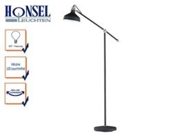 Schicke Design Stehlampe PIT mit Filament-LED im Retro Stil, Nickel matt / Metall Schwarz matt mit 2 Gelenken, E27-Fassung - 1