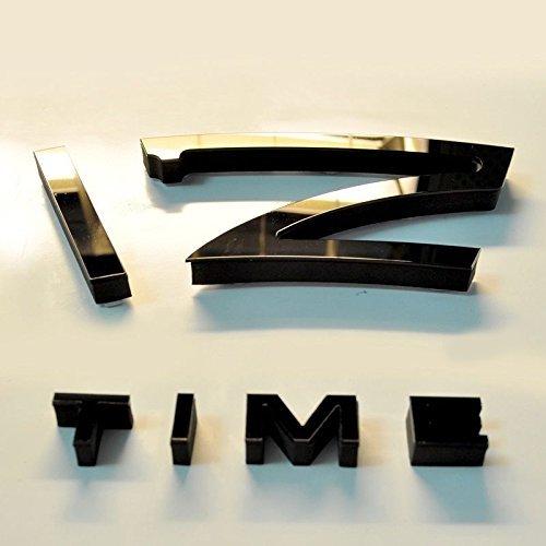 schwarze riesen designer wanduhr wohnzimmer dekoration wandtatoo xxl 3d aus acryl 5 redidoplanet. Black Bedroom Furniture Sets. Home Design Ideas