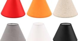 Sharplace Lampenschirm E27 LED Lampenfassung Schirm für Stehlampe, Tischlampe und Bodenlampe - Schwarz - 4