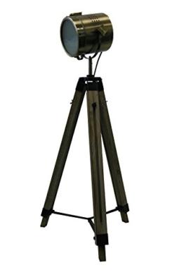 STATIV STEHLEUCHTE Höhe: 95-139cm RETRO STEHLAMPE Industrie Design DREIBEIN 605450 - 1