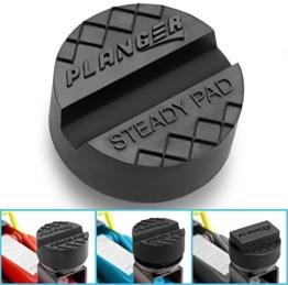 STEADY PAD - Premium Wagenheber Gummiauflage für Rangierwagenheber und Hebebühnen - Universal Gummiauflage Wagenheber - Schützt Ihren PKW und SUV dank praktischer Form und robustem Gummi. Ideal für Auto Tuning - 1