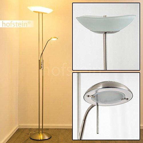 stehlampe lucca deckenfluter dimmbar led stehlampe nickel mit 1700 lumen 480 lumen und. Black Bedroom Furniture Sets. Home Design Ideas