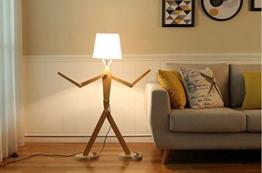 Stehlampe, moderne kreative Beleuchtung Schlafzimmer Wohnzimmer Einstellbare Haltung Massivholz Licht Standleuchten ( Farbe : B , größe : L50*W20*H110CM ) - 1