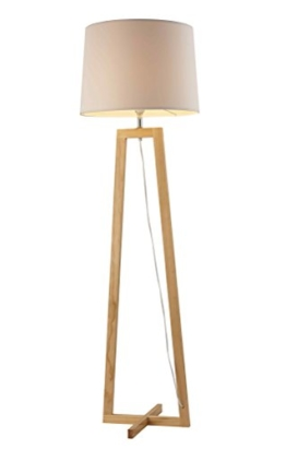 Stehlampe, Stehleuchte, Standleuchte, Standlampe, Bodenlampe, Wohnzimmerlampe, Lampe, Leuchte, weiß, Höhe ca. 168 cm - 1