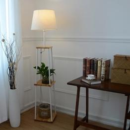 Stehlampe Studie Wohnzimmer Sofa Stehlampe Nordic Holz Schlafzimmer Bett Leselampe Standleuchten - 1