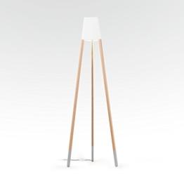 """Stehleuchte """"Lampe auf drei Beinen 170 cm"""", Blechschirm weiß, Sockenfarbe grau (Textilkabel grau) - 1"""