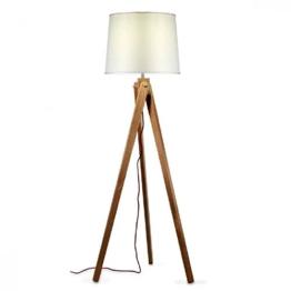 Stehleuchte Tripod aus Holz |dimmbar mit Schalter |Design Stehlampe - 1